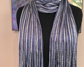 Pleated, Handwoven Silk Scarf