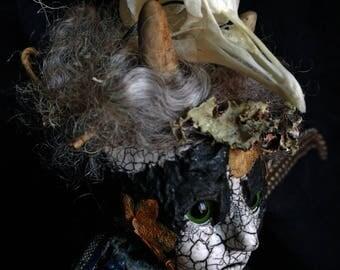 Art Doll OOAK - this darkness lit by one bird's threadbare song
