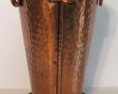 SPRING SALEVintage Copper Gregorian Basket Large. Made in USA