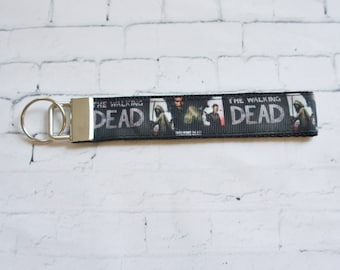 The Walking Dead  key Fob, wristlet keychain, teen key FOB, Father Day, Dad gift, TV series, Zombies, Teen, Wristlet Keychain, Key holder