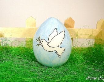 Ceramic egg, painted Easter egg, Easter ceramics, Easter table decor, Easter centerpiece, Easter basket decor, Easter ornament, egg decor