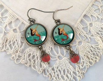 La Sirena- Loteria Mermaid Earrings