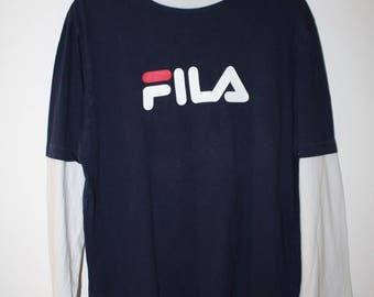 Fila Biglogo T-shirt Longsleeve Vintage Size S