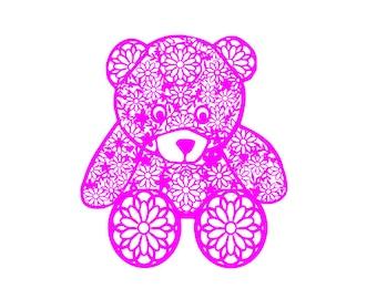 Teddy Bear svg for instant digital download