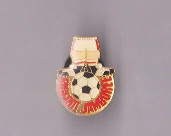 True Vintage SOCCER Bigfoot Jamboree! Lapel Pin, Enamel Pin, Pin back, Hat Pin, Football, Mls, FIFA, 80s