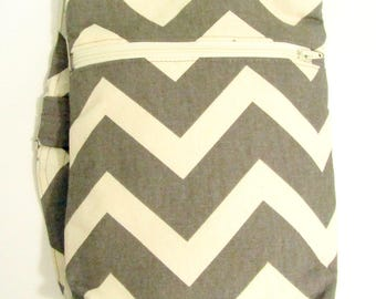 Messenger bag - Gray Chevron Messenger Bag- Over the shoulder Bag
