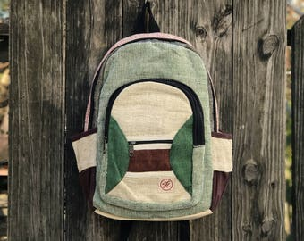 H Pure Hemp Handmade backpack, Padded Laptop