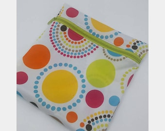 WhoosInUrPanties PUL Wet Bag - Cloth Pad Storage - Toiletry Bag - Swim Bag - Pool Bag - Diaper Bag - Waterproof