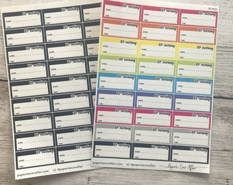 IEP planner stickers | IEP meeting planner stickers | SCH024