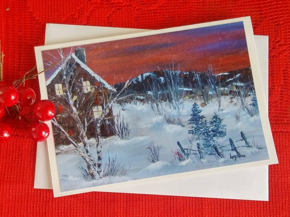 Christmas/Winter Wonderland card / winter House / wishes for the Christmas holidays/greeting of card/Christmas new year/greeting-CC-LP-0055