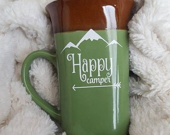 Happy Camper 14 oz Ceramic Mug