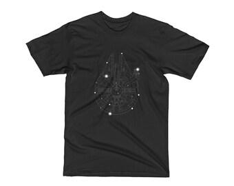 Constellation T-Shirts From A Galaxy Far Far Away - In Black