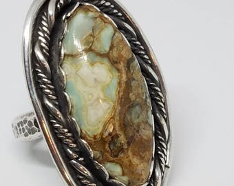 Sterling silver 7D stone in size 7