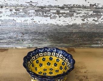Polish Pottery fluted bowl