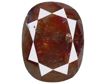 1.28 Ct Natural Loose Diamond Cut Cushion Shape Red Brown Color 7.50X5.80X3.10 MM N3111