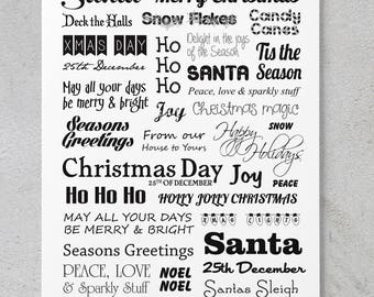 Christmas Words - Scrapbooking/Card Making Quote Sheet **DIGITAL DOWNLOAD**