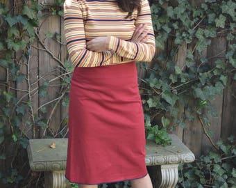 Vintage Red Pencil Skirt