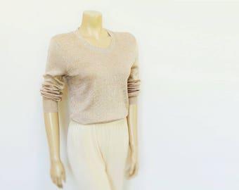 Vintage gold sweater | Etsy