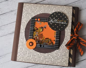 Halloween photo folio, halloween scrapbook, pre-made scrapbook, scrapbook album, handmade album, scrapbook folio style, halloween mini album