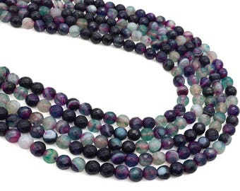 6mm Faceted Agate Beads, Gemstone Beads, Wholesale Beads