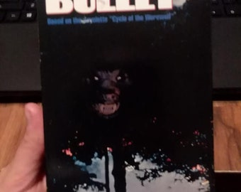 silver bullet vhs//stephen king//horror movies//werewolf movies//vintage//horror vhs