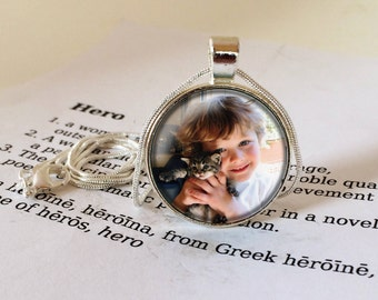 Personalised Pendant Necklace - Custom Photo Jewellery, Personalized Photo Pendant, Personalised Picture Necklace, Your Own Photo Jewelry