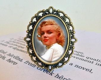 Marilyn Monroe Brooch - Marilyn Monroe Gift, Norma Jean Pin, Gift for Girlfriend, Vintage Hollywood Starlet Brooch, Marilyn Monroe Pin