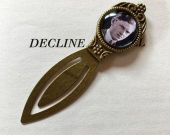 Evelyn Waugh Bookmark, Evelyn Waugh Gift, Brideshead Revisited Vintage Bookmark, Decline and Fall Gift, Gift for Book Lover, Author Bookmark