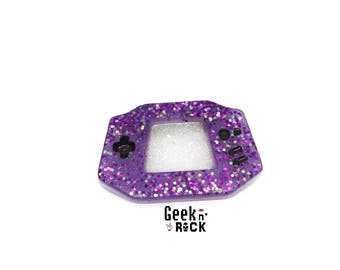 Brooch geeky gamer console video gaming controller resin with glitter