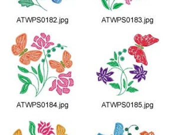 Mylar-Spring ( 10 Machine Embroidery Designs from ATW ) XYZ17F