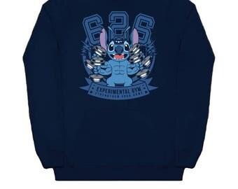 EXPERIMENT 626 HOODIE Disney Cartoon Lilo And Stitch Japanese Geek Anime Nerd Hooded Sweat Shirt