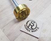 """1.5"""" Round Custom Artwork Branding Iron"""