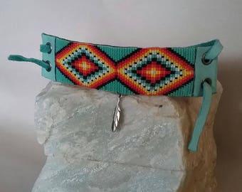 Native American Inspired Hand-woven Beaded Bracelet