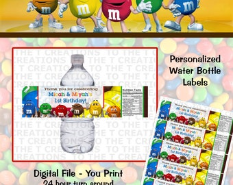 Mnms Personalized Water Bottle Labels