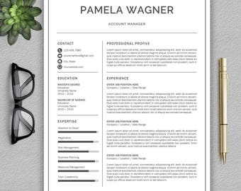 Professional Resume Template | Resume Template for Word | CV Template + Cover Letter | Modern Resume Template | Professional CV |  CV Design