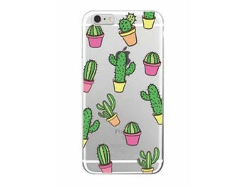 Potted Cactus Cell Phone Case Iphone 7 Plus Cacti Phone Case Cover Silicon