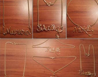 Personalized Name Gold Plated Custom Necklace