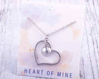 Customizable! Heart of Mine: Tennis Silver Necklace - Great Tennis Gift!