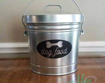 dog food decal dog food storage pet food storage - Dog Food Containers