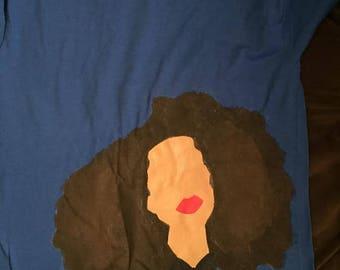 Faceless portrait t-shirt