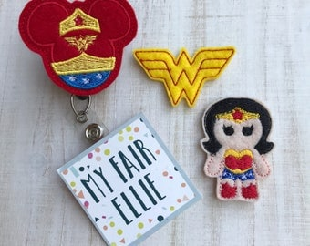 Wonder Woman Badge Reel - Superhero Reel - Comics Reel - DC Comics Badge Reel - Nursing Badge Reel
