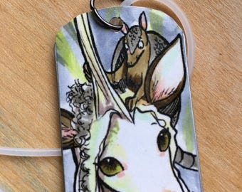 Unicorn and Armadillo Dogtag Pendant