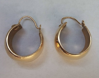 Classic 1950's 14kt Yellow Gold Hoops 5.84 Grams