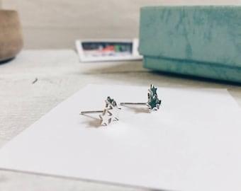 Star Ear Studs Silver | Small Earrings Sterling Silver Jewellery