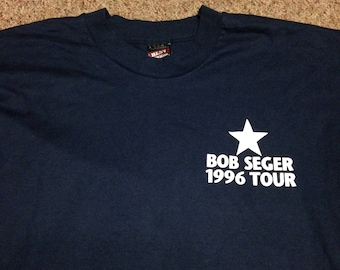 Vintage Bob Seger 1996 Singe Stitch Tour Shirt size Large
