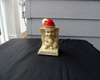 Vintage 1969 Russ Berrie Wallace Berrie Santa Christmas Mouse Figurine Merry Christmas  1771