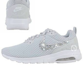 Swarovski Nike Air Max Motion LW - Bling Nike - Running Shoes - Grey Color - Custom - Choose Your Crystal - SparkleBoutique2U