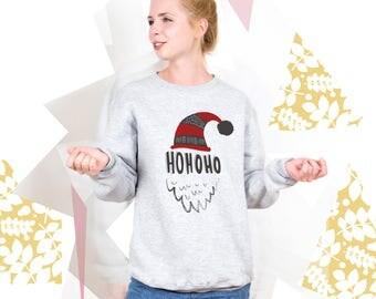 HoHoHo Christmas Sweatshirt Tumblr Hoodies Xmas Gift Christmas Sweater Christmas Outfit Graphic Sweater Xmas Sweater Funny Sweatshirt PA3024