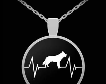 Siberian Husky Heartbeat Necklace