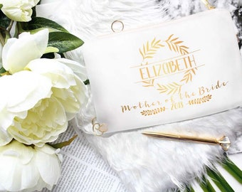 Personalized Mother Of The Bride Gift From Daughter -Custom Mother Of The Bride Cosmetic Bag - Unique Gift Items From Bride And Groom Kit